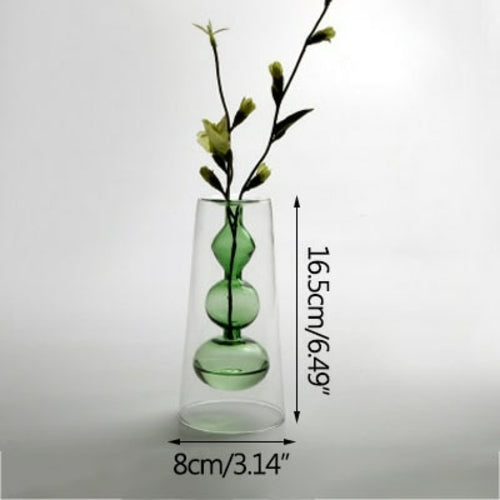 Load image into Gallery viewer, Double Layer Color Glass Vase