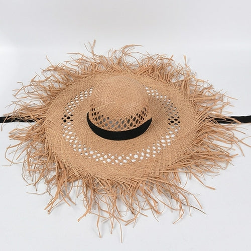 Load image into Gallery viewer, Raffia Beach Hat