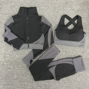 Load image into Gallery viewer, Yoga & Gym Clothing 3 Piece Set