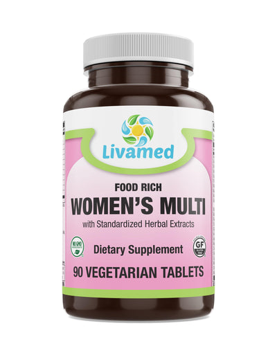 Livamed - Food Rich Women's Multi Veg Tabs - Livamed Vitamins