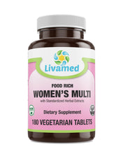 Load image into Gallery viewer, Livamed - Food Rich Women's Multi Veg Tabs - Livamed Vitamins
