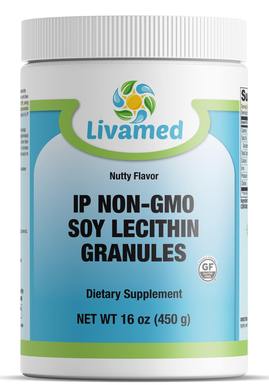 Livamed - IP Non-GMO Soy Lecithin Granules (New PCR Tub Coming Soon) 16 oz Count - Livamed Vitamins