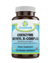 Load image into Gallery viewer, Livamed - Coenzyme Methyl B-Complex 120 Count - Livamed Vitamins