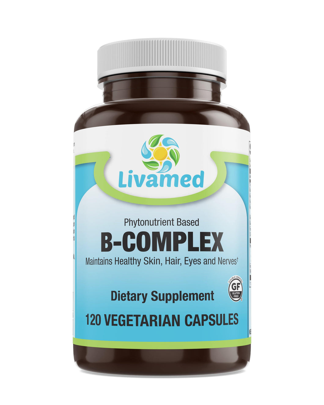 Livamed - Phytonutrient Based B-Complex Veg Caps  120 Count - Livamed Vitamins