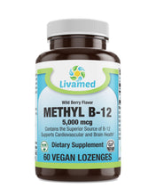 Load image into Gallery viewer, Livamed - Methyl B12 5,000mcg Lozenge  60 Count - Livamed Vitamins