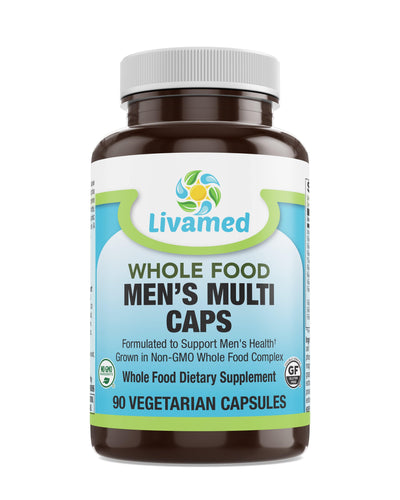 Livamed - Men's Multi Veg Caps - Whole Food Essentials   90 Count - Livamed Vitamins