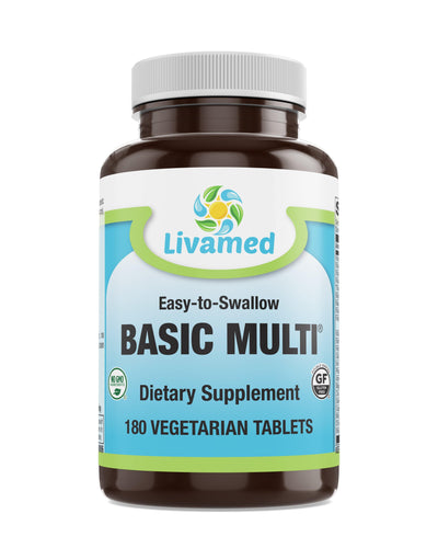 Livamed - Basic Multi® Veg Tabs 180 Count - Livamed Vitamins