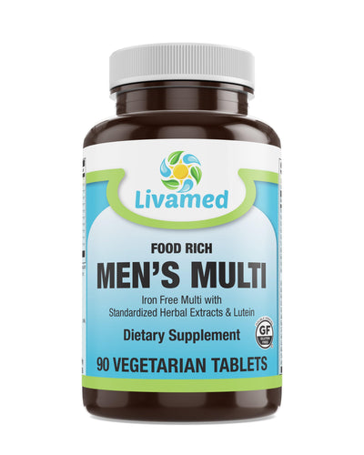 Livamed - Food Rich Men's Multi Veg Tabs - Livamed Vitamins