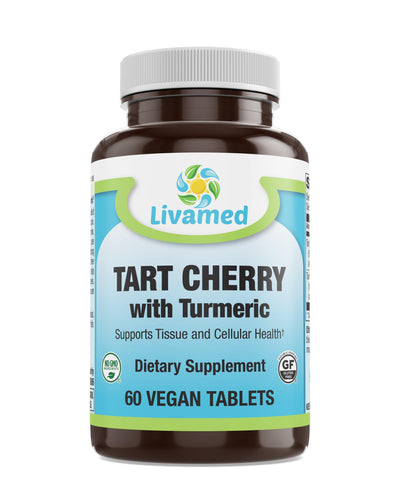Livamed - Tart Cherry with Turmeric Veg Tabs 60 Count - Livamed Vitamins