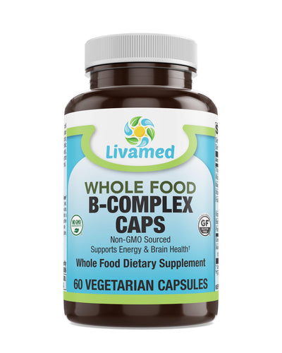 Livamed - B-Complex Veg Caps - Whole Food Essentials   60 Count - Livamed Vitamins