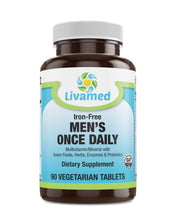 Load image into Gallery viewer, Livamed - Men's Once Daily Veg Tabs 90 Count