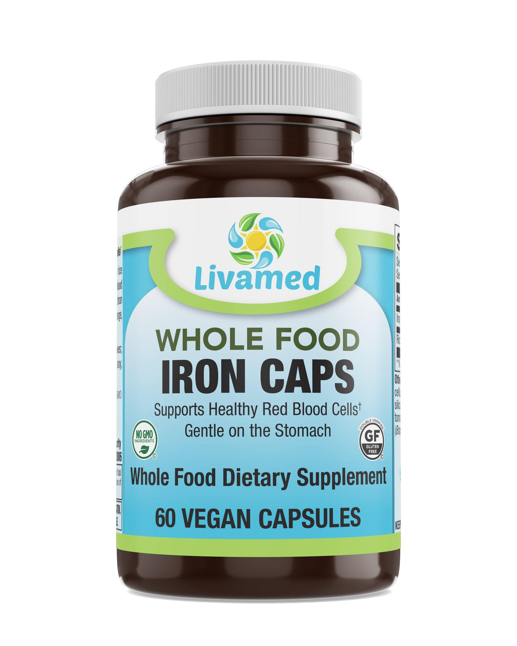 Livamed - Iron Veg Caps - Whole Food Essentials   60 Count