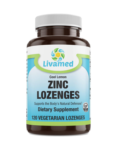 Livamed - Zinc Lozenges Veg - Cool Lemon Flavor 120 Count XXX - Livamed Vitamins