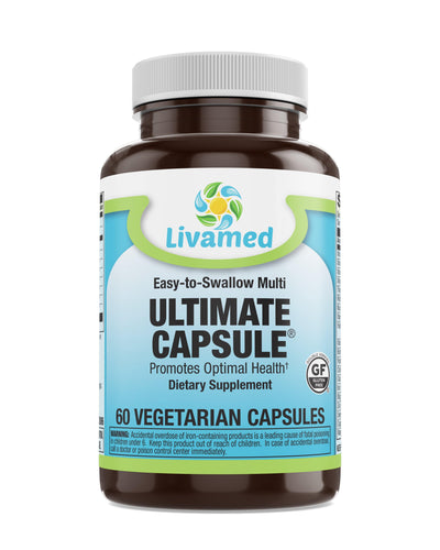 Livamed - Ultimate Capsule® Multivitamin Multimineral Complete Veg 60 Count - Livamed Vitamins