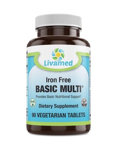 Livamed - Iron Free Basic Multi® Veg Tabs 90 Count - Livamed Vitamins