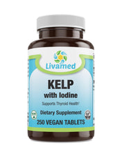 Load image into Gallery viewer, Livamed - Kelp with Iodine Veg Tabs 250 Count