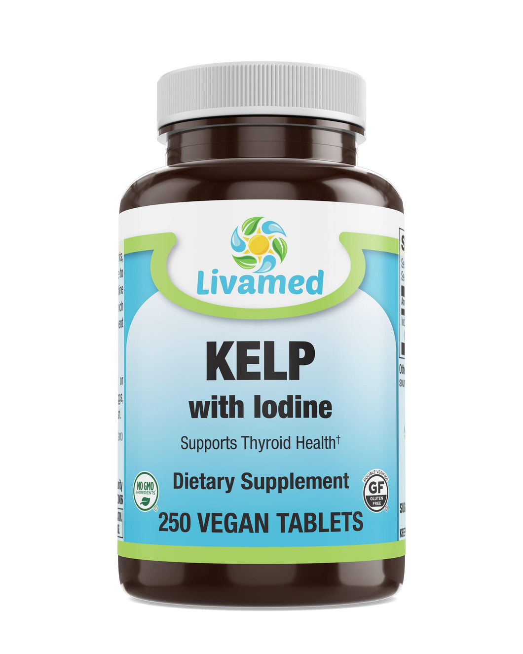 Livamed - Kelp with Iodine Veg Tabs 250 Count