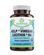 Load image into Gallery viewer, Livamed - Kelp Vinegar Lecithin B6 (KLVB) Veg Cap 100 Count