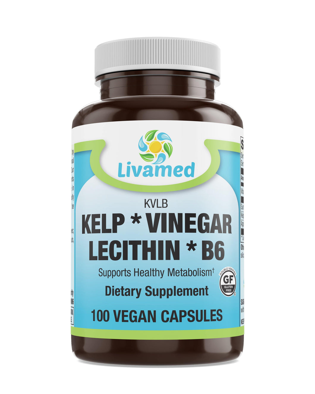 Livamed - Kelp Vinegar Lecithin B6 (KLVB) Veg Cap 100 Count