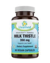 Load image into Gallery viewer, Livamed - Milk Thistle 350 mg Veg Caps 60 Count - Livamed Vitamins
