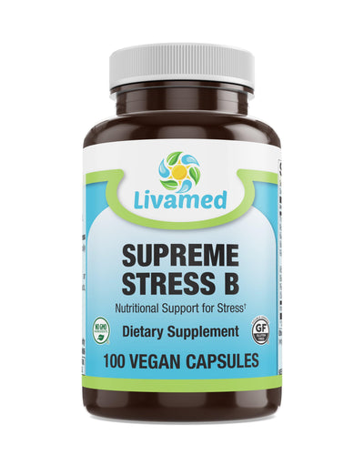 Livamed - Supreme Stress B Veg Caps 100 Count - Livamed Vitamins