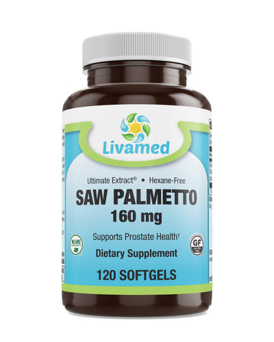 Livamed - Saw Palmetto 160 mg Softgels 120 Count - Livamed Vitamins