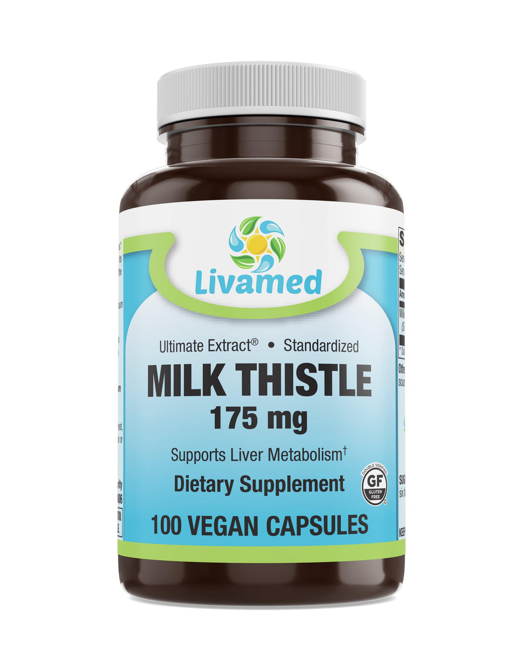 Livamed - Milk Thistle 175 mg Veg Caps 100 Count