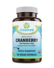 Load image into Gallery viewer, Livamed - Cranberry (Cran-Max®) Veg Caps 90 Count - Livamed Vitamins