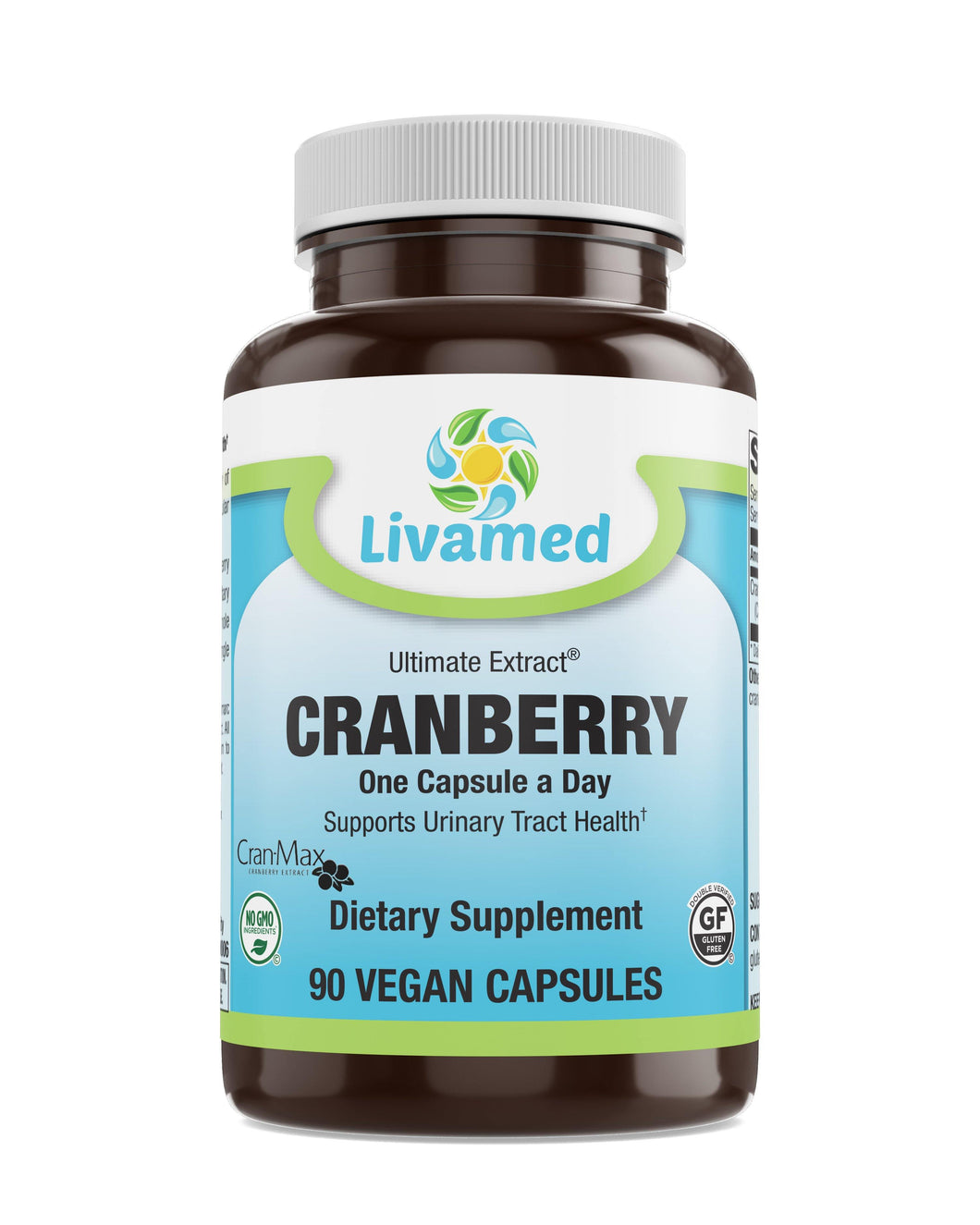 Livamed - Cranberry (Cran-Max®) Veg Caps 90 Count - Livamed Vitamins