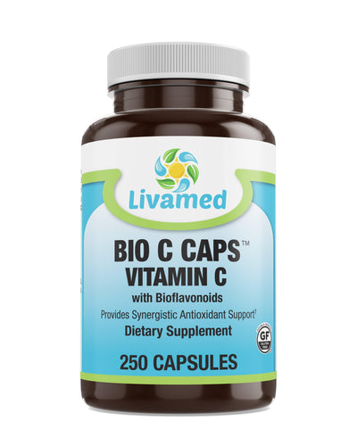 Livamed - Bio C Caps™ Vitamin C with Bioflavonoids 250 Count - Livamed Vitamins