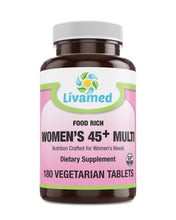 Load image into Gallery viewer, Livamed - Food Rich Women's 45+ Multi Veg Tabs - Livamed Vitamins