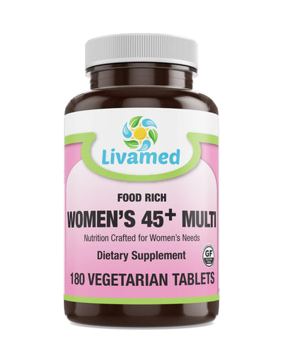 Livamed - Food Rich Women's 45+ Multi Veg Tabs - Livamed Vitamins