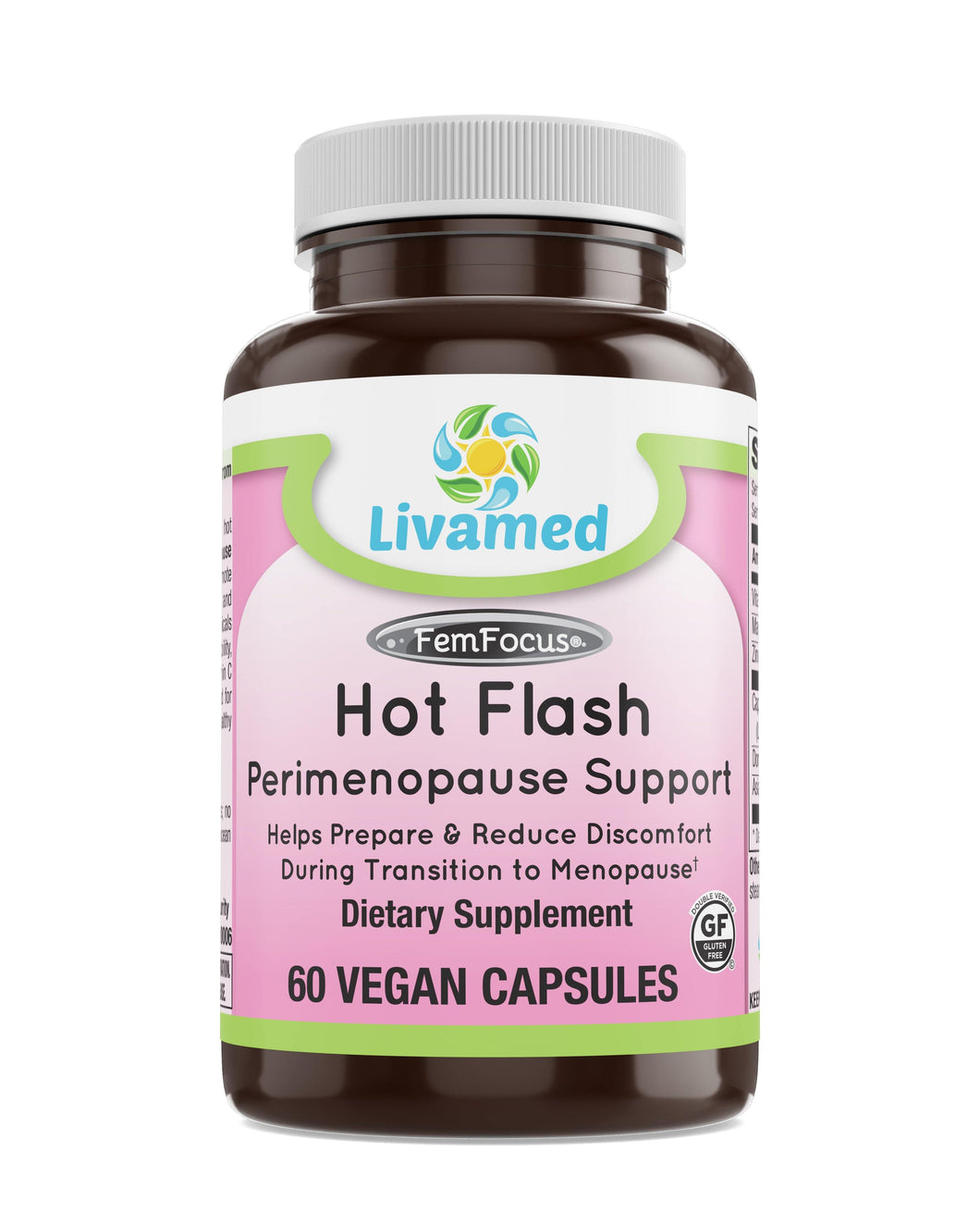 Livamed - Hot Flash Perimenopause Support Veg Caps 60 Count - Livamed Vitamins