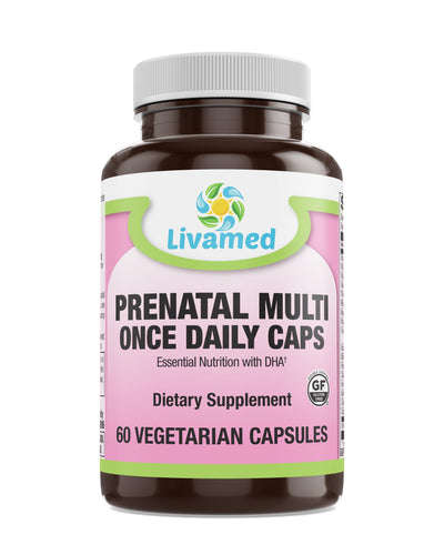 Livamed - Prenatal Once Daily Veg Caps 60 Count - Livamed Vitamins