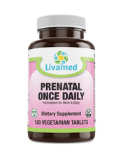 Load image into Gallery viewer, Livamed - Prenatal Once Daily Veg Tabs  120 Count - Livamed Vitamins