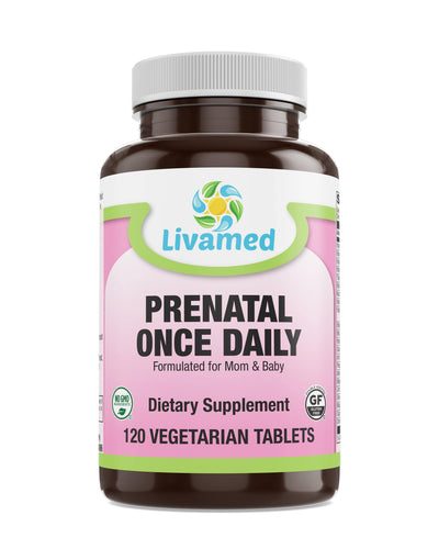 Livamed - Prenatal Once Daily Veg Tabs  120 Count - Livamed Vitamins