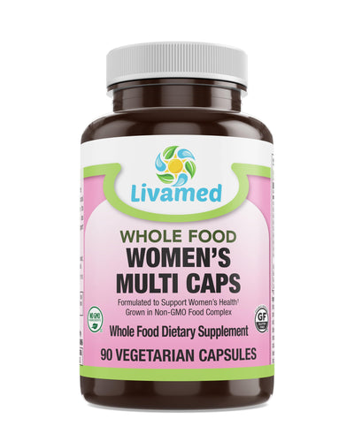 Livamed - Women's Multi Veg Caps - Whole Food Essentials   90 Count - Livamed Vitamins