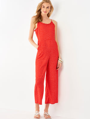 red dot jumpsuit