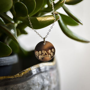 Great Outdoors Large Disc Necklace