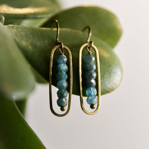 Apatite Peapod Earrings