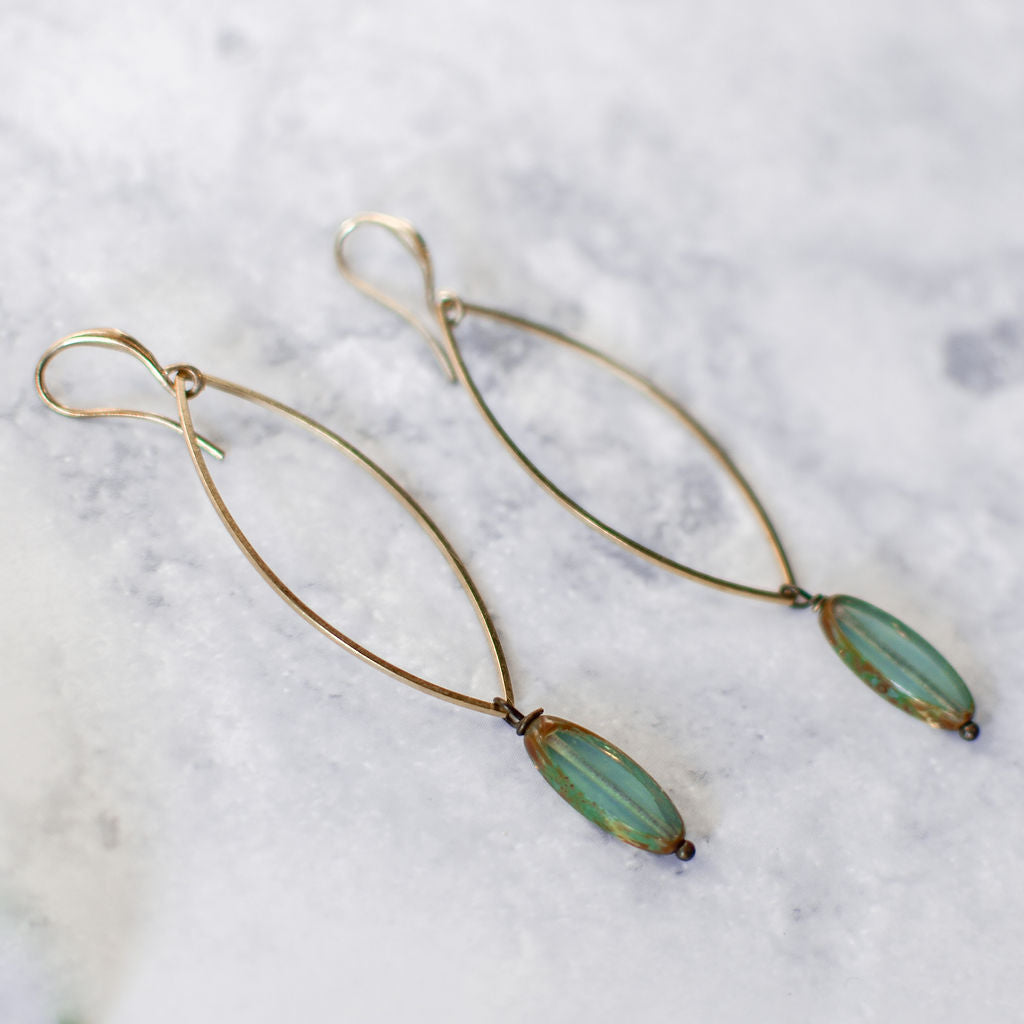 marquise turquoise earrings