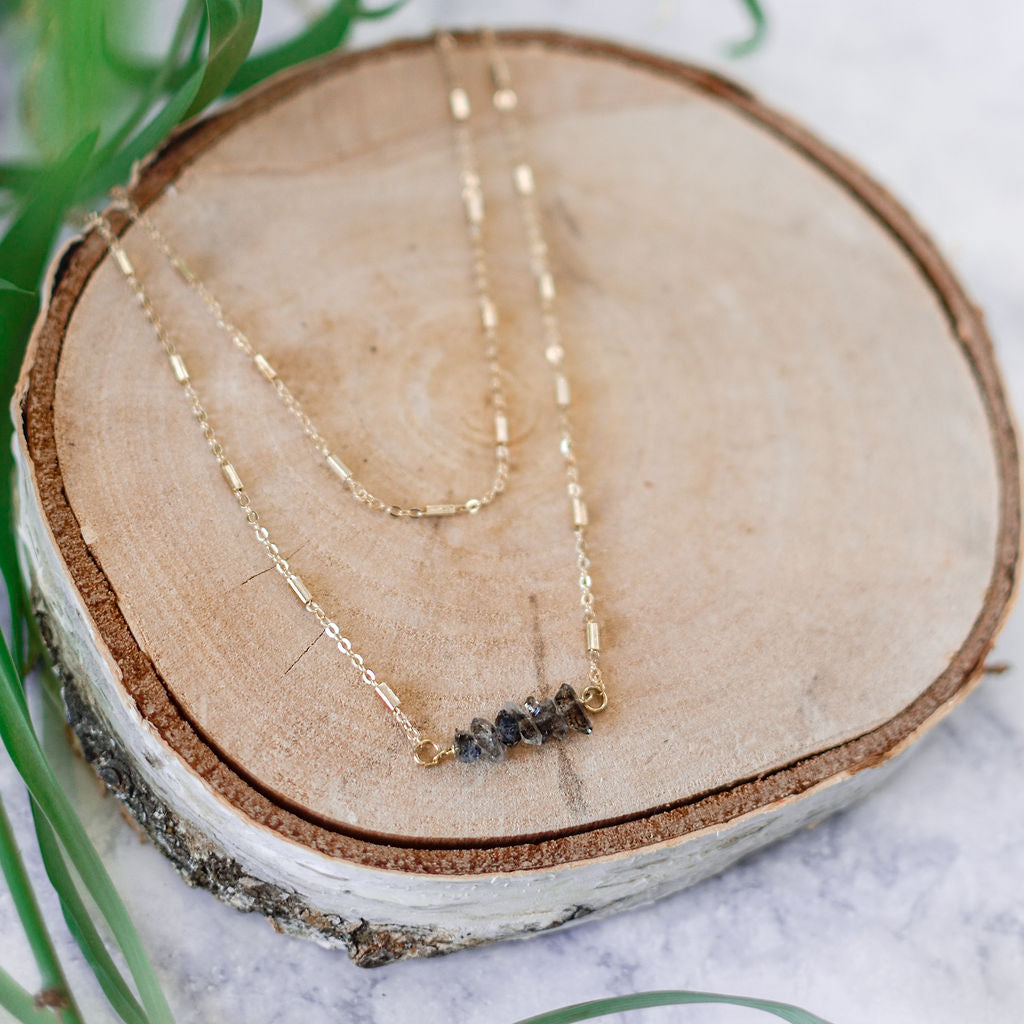 Double stranded labradorite necklace