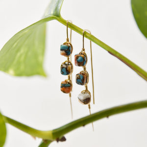 spiny oyster turquoise drop earwire