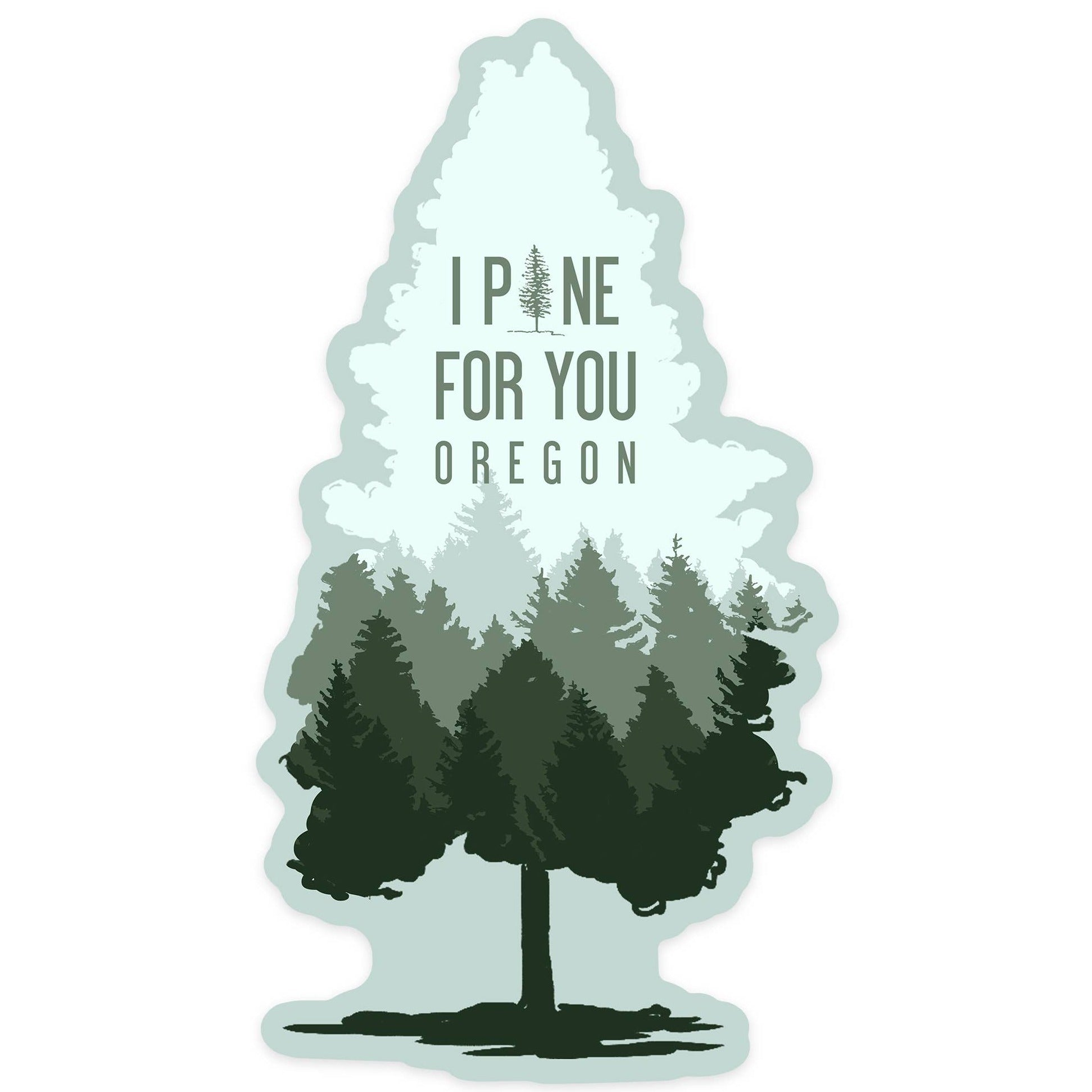 Oregon Tree Sticker