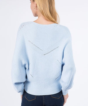 Powder Blue Ribbed Knit