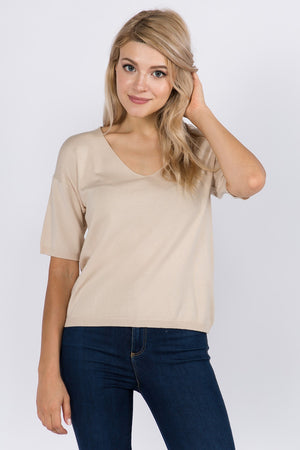 Shirley Short Sleeve Sweater