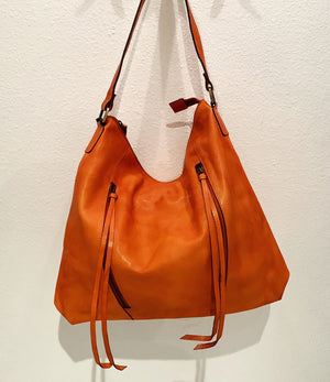Orange Leather Bag