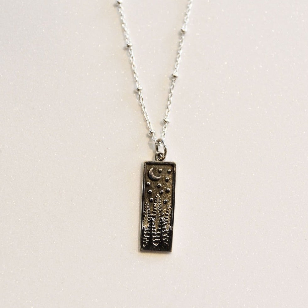 Trees in Snow Necklace