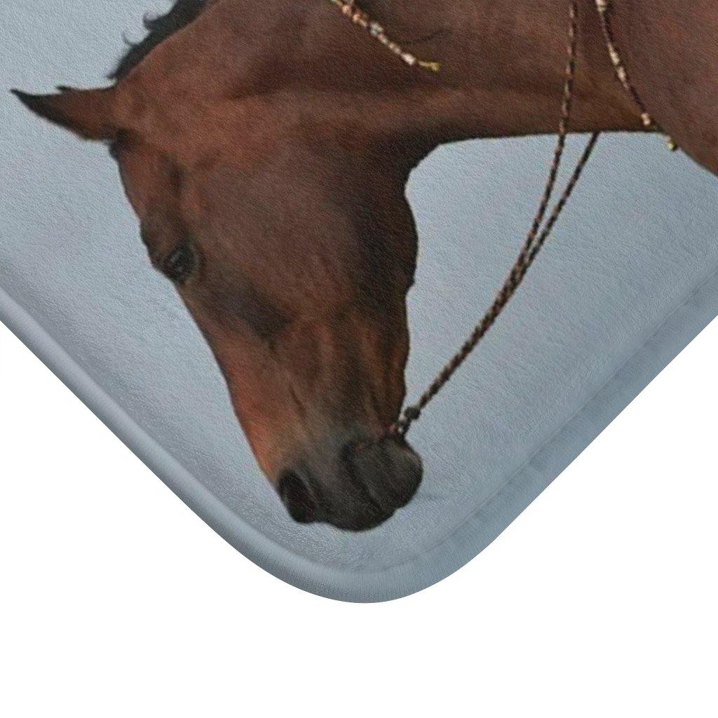 Native Girl Horseback - Bath-Mat - TranceDiva