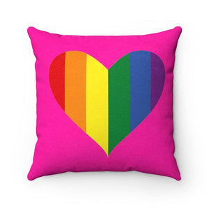 Pride Heart - Faux Suede Square Pillow - TranceDiva